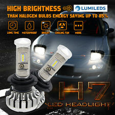 2× 180W SINGLE BEAM 18000LM H7 LED Headlight Kit Fog Light Bulbs 6000K Canbus-