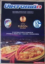 Programm Schalke 04 UEFA Europa League 11/12 EL FC Viktoria PIlsen vs. S04