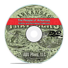 Arkansas AR, People, Cities, Family History and Genealogy 115 Books DVD CD V94