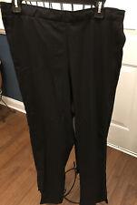 New Black W123 Wonderwink Women Scrub Bottoms 1X Tall Plus Size Pants Nwt