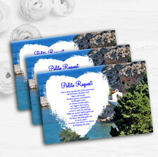 Heart St Pauls Lindos Rhodes Personalised Wedding Gift Request Money Poem Cards