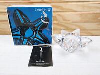 Orrefors Candle Holder Lead Crystal Star Starfish Votive Tealight Sweden Box