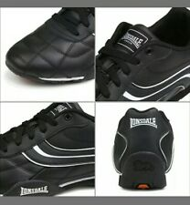 Brand New Lonsdale Camden Black and White Men's Leather Trainers Size UK 11
