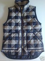 J. Crew Factory Excursion Quilted Puffer Vest In Buffalo Blue NWT Size: XXS-L
