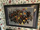 """1974 Charley Harper Signed, Limited Edition Serigraph """"Birds Of A Feather"""""""