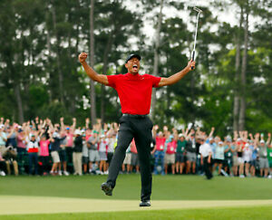TIGER WOODS 8X10 CELEBRITY PHOTO PICTURE 2019 MASTERS WIN
