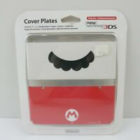 Nintendo New 3DS Cover Plate Mario Moustache White Red | New Broken Seal | Aus
