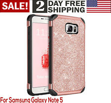 Galaxy Note 5 Case Glitter Luxury Bling Sparkly Shiny Faux Leather Phone Cover