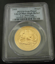 Isle of Man 2009 Gold 1 oz Angel PCGS Gem Proof High Relief