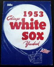 1953 Chicago White Sox Baseball Yearbook Fox Fain Minoso Mele Lollar