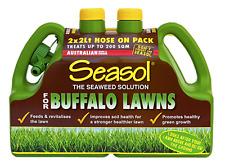 Seasol BUFFALO LAWN FERTILISER 2x2L Hose On, Promotes Healthy Green Growth