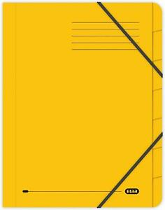 Elba A4 Foolscap Strongline 7-Part Files, 320 gsm, Yellow, Pack of 5