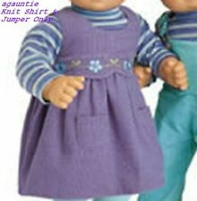 New American Girl Bitty Baby TWINS GIRL PLAY OUTFIT ONLY - Knit Shirt + Jumper