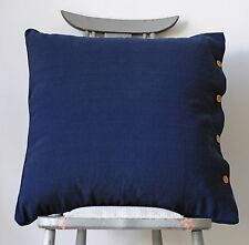 Cushion Cover Navy Blue Cotton Hamptons Nautical Throw Daybed Sofa Pillow Case