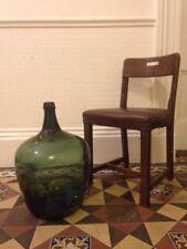 Antico Vittoriano VERDE Pera Forma lungo collo DAMIGIANA Bottiglia in vetro DEMIJOHN pontil