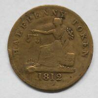 1812 Canada Half Penny Token
