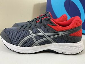 Asics 1011A667-021 Gel Contend 6 Grey/Red Running Shoes Men's Size 9.5