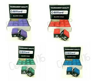 TOURNAMENT QUALITY 1 to 12 PIECES / BOX of POOL or SNOOKER CUES TIPS CHALKS