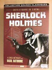 COFFRET 4 DVD SHERLOCK HOLMES / 4 FILMS AVEC BASIL RATHBONE / TRES BON ETAT