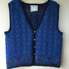 Dale of Norway Mens Medium Vest Blue Dale Casuals Pure New Wool