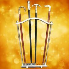 Spazier Stock Ständer 10-Stocke Aluminium vernickelt Schirmständer Geschenk1