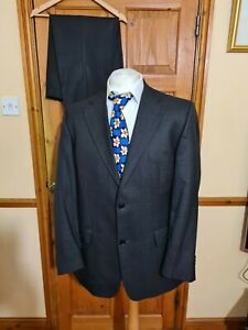 Roy Robson Lanificio cerruti wool charcoal suit  Jacket  uk 40 Trousers W36 L31
