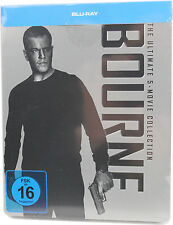Bourne Box 1-5 (Steelbook), The Ultimate 5-Movie Collection [Blu-ray]