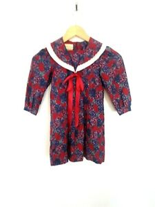 Vintage Laura Ashley Mother & Child Girls Size Age 3-4 Years Floral Collar Dress