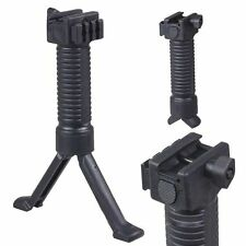 Tactical Ris Fore Grip with Bipod Pod Picatinny Weaver Rail Foregrip