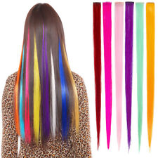 6 pcs Multi-Colors Party Highlights Colorful Clip In Synthetic Hair Extensions