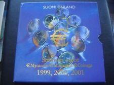 Finland 1999 2000 2001 year coin set from 1 cent - 2 euro 3 sets 24 coins