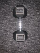 10kg FORCE USA Rubber Hex Dumbbell