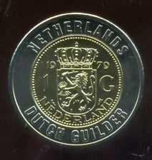 PAYS BAS 1 gulden   monnaie européenne, Universel Bimétallique jeton