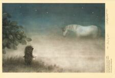 Hedgehog in the Fog Norstein's hand-signed high quality print (Hedgehog /Horse)