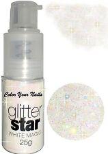 25g Glitterpuder Spray. weiß irisierend Auch für Haut und Haar Glitzer