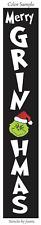 "Joanie 2 pc Stencil 48"" tall Merry Grinchmas Christmas Holiday Porch DIY Signs"