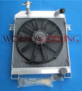 Aluminum Radiator & FAN FOR JAGUAR MK1/MK2 MARK 2 1955-1959 S-TYPE 1963-1968 MT