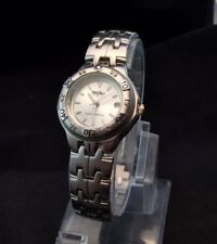 Ladies Stainless Steel Mossimo Quartz Watch With Silver Tone Link Band Works