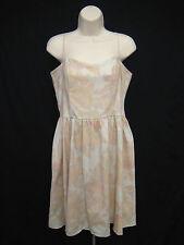 H&M Women Size 12 Peach Lavender Floral Sundress Dress Spaghetti Straps New
