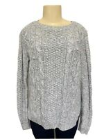 Hollister Womens Gray Knitted Sweater Size Large