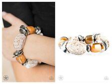 NWT! Paparazzi ~ Glaze of Glory ~ Peachy Orange/Brown Bracelet