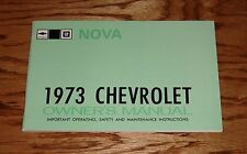 1973 Chevrolet Nova Owners Operators Manual 73 Chevy