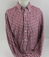 Saddlebred Vintage Oxford Men's Large Shirt Red & White Long Sleeve Button Front
