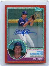 2018 TOPPS #43 RYNE SANDBERG AUTOGRAPH RED REFRACTOR #2/5, CHICAGO CUBS, HOF