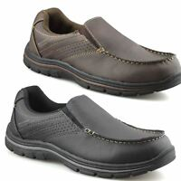 Mens Casual Memory Foam Slip On Walking Moccasin Loafers Driving Boat Shoes Size