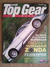 TOP GEAR MAGAZINE SEP-1999 - Pagani Zonda C12, Audi S3, Saxo VTR, Rover 75, Clio