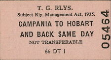 Australia Collectable Railway Tickets
