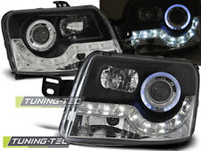 Coppia Fari Fanali Anteriori Tuning FIAT PANDA169 2003 > 2009 DAYLIGHT Neri LED
