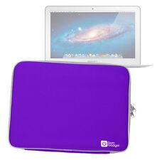Soft Purple Neoprene Zip Case/Pouch For Use W/ Apple MacBook Air 11-inch (2015)