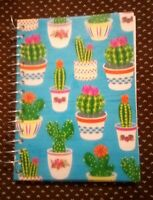 """NEW!! Spiral Notebook (5.5x4"""") College-Ruled 180 pg Succulent Cactus Cacti Plant"""